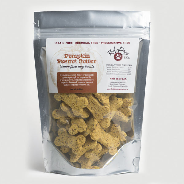Pumpkin Peanut Butter Grain Free Dog Treats