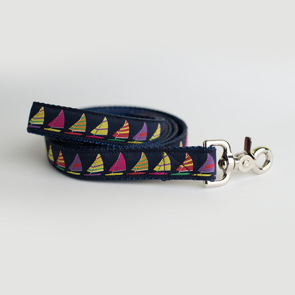 Sesuit Harbor Sailboat in Pink Leash