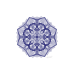 8 Eyes Mandala - Navy