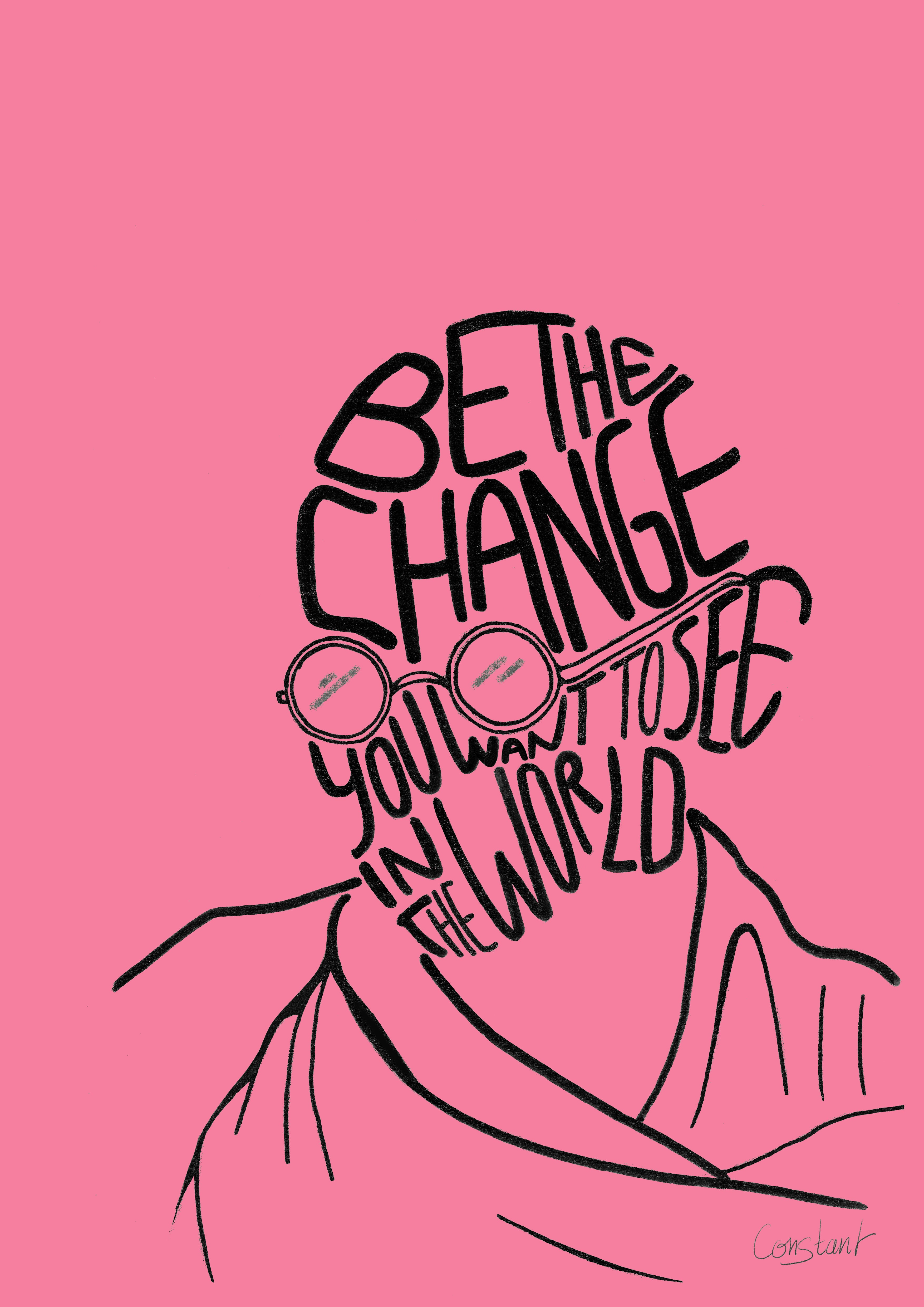 Be the Change - Pink