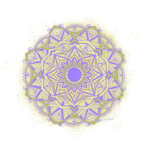 Boomerang Mandala - Purple & Green
