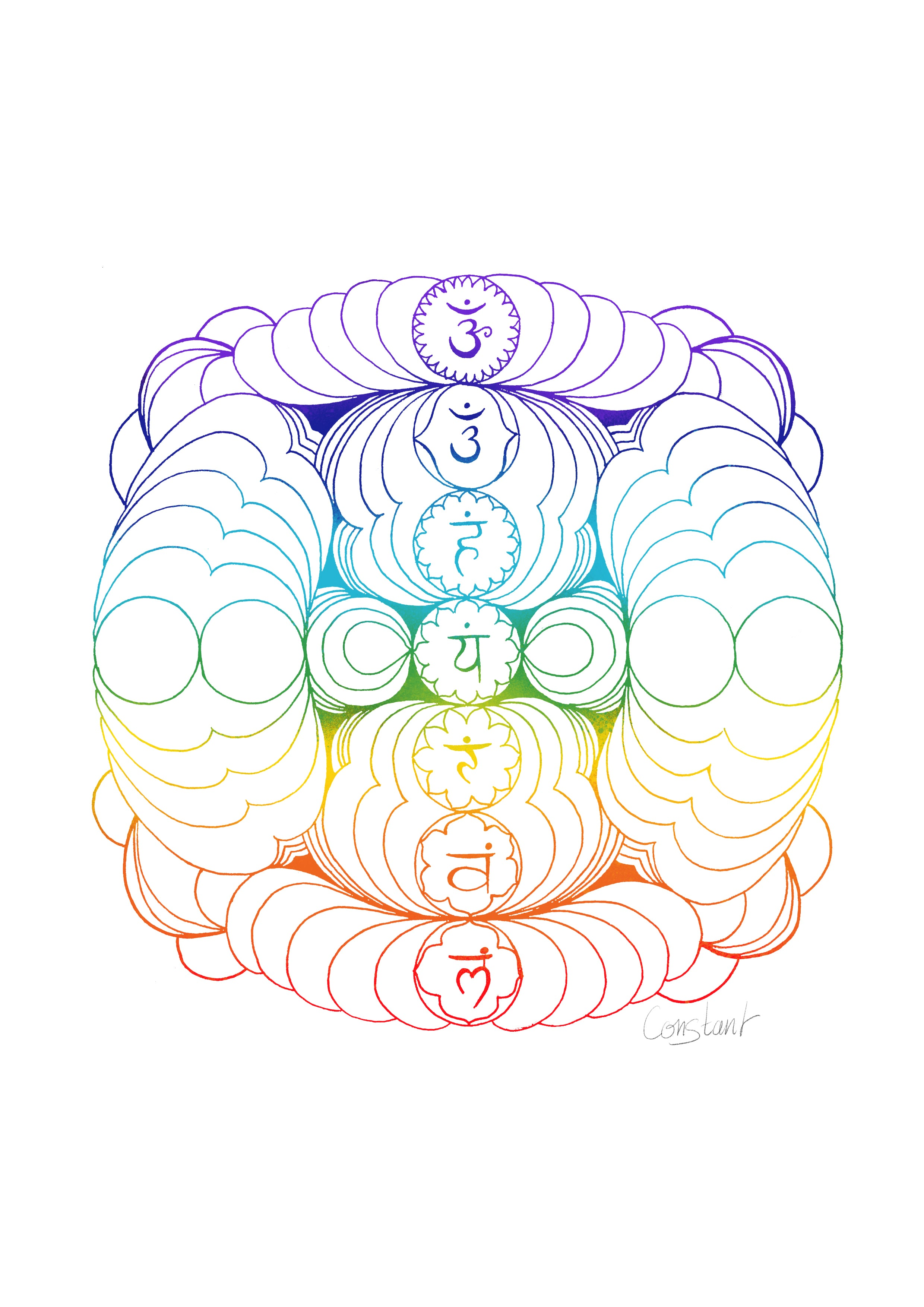 The Seven Chakras - Multicolour