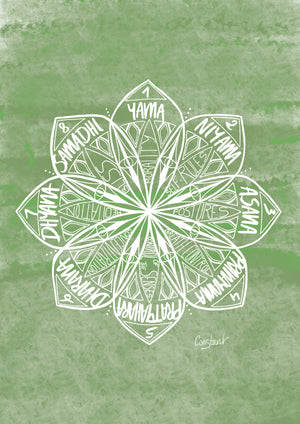 Eight Limbs of Yoga - Green