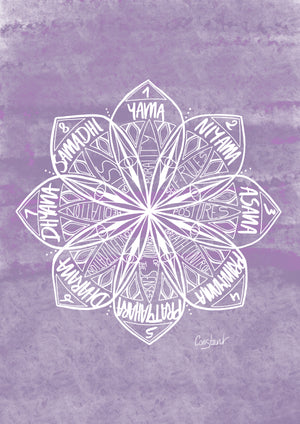 Eight Limbs of Yoga - Purple