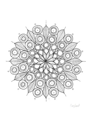 Figure of 8 Mandala - Black & White