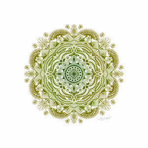 Flower Mandala - Green Ombré