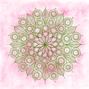 Figure of 8 Mandala - Green & Pink