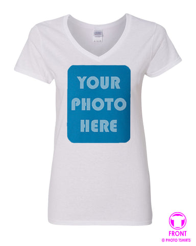 Ladies Photo Vneck Tee