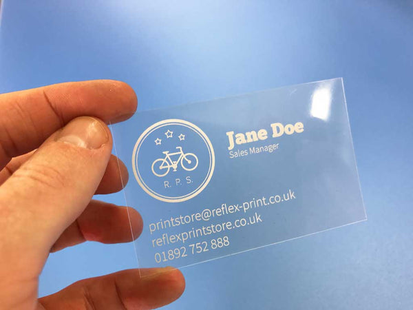 Unconventional business cards make your business stand out clear plastic business cards reheart Choice Image