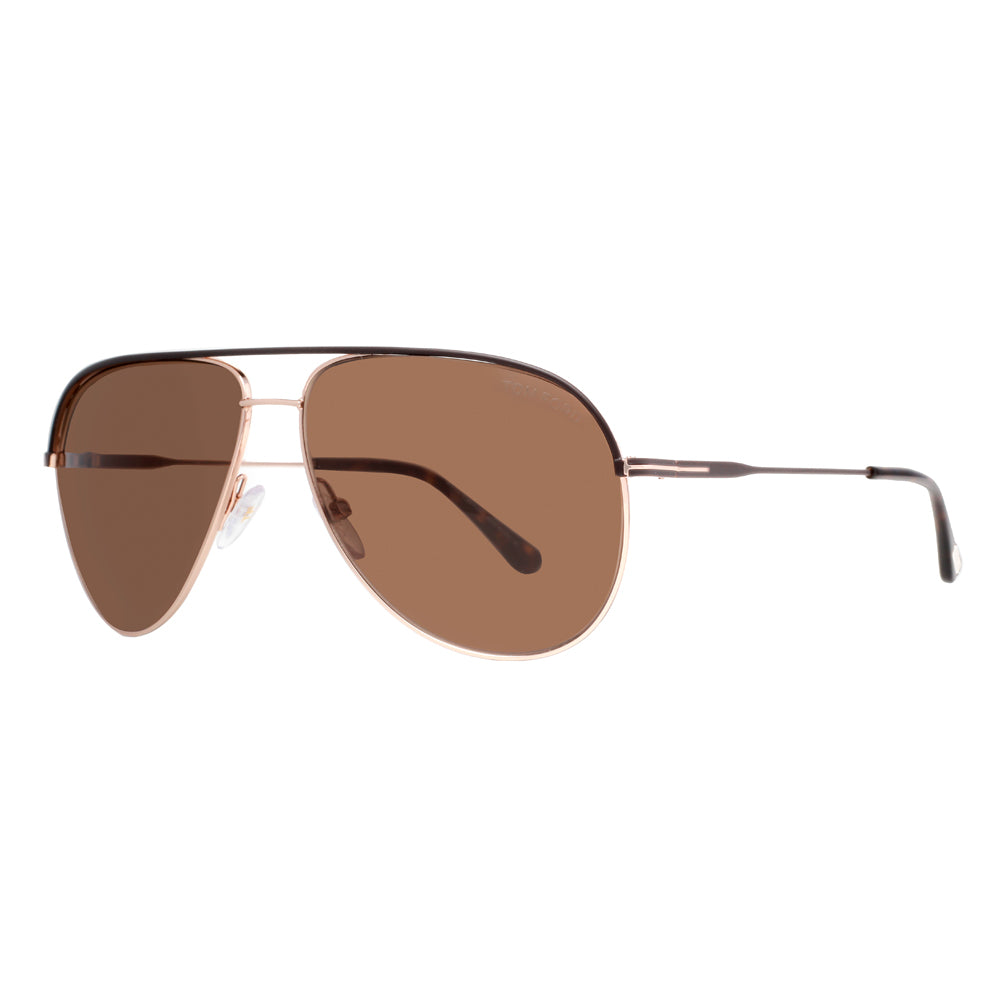 fb066ea365 ... Gold Havana Brown Aviator Sunglasses. Tom Ford Erin TF 466 50J 61mm.  Loading zoom