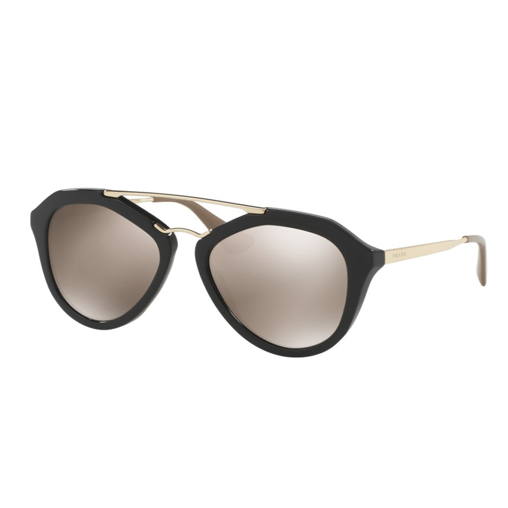 5e9c74b141f6 ... Gold Brown Mirror Aviator Sunglasses. Prada PR12QS 1AB1C0 54mm. Loading  zoom