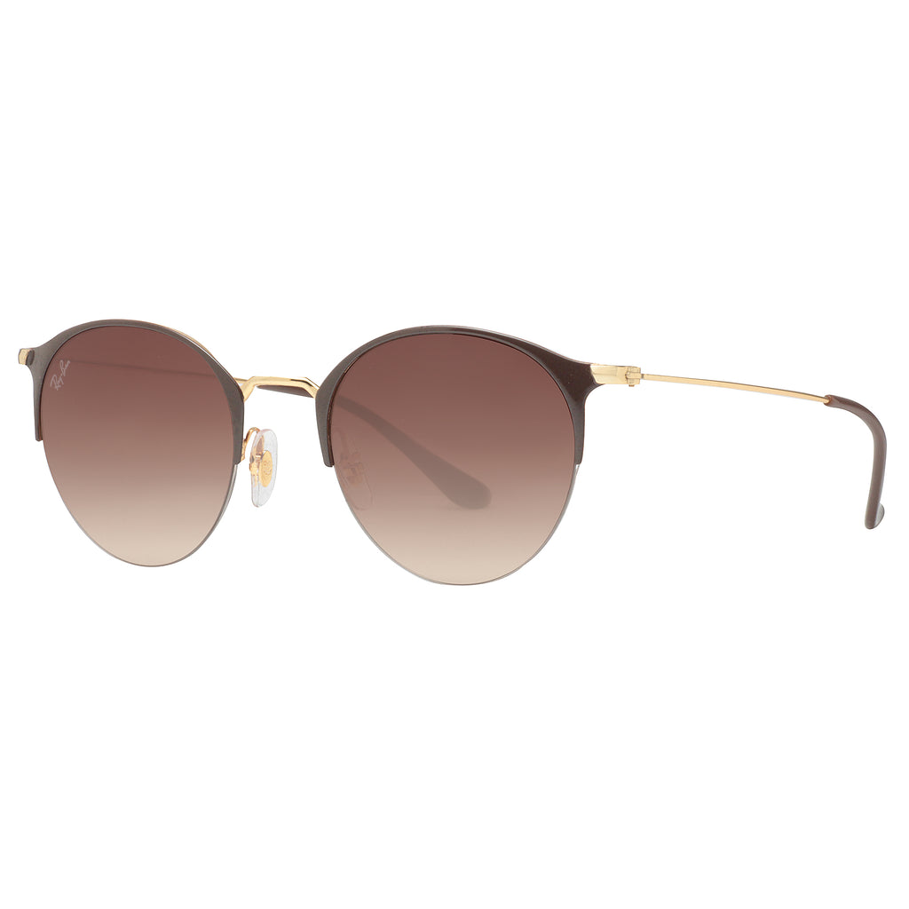 ac40656f32 ... Gold Brown Gradient Round Sunglasses. Ray-Ban RB 3578 900913 50mm.  Loading zoom