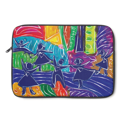 Dancing Children tablet and Laptop Sleeve , Laptop Sleeve - The Art Journey