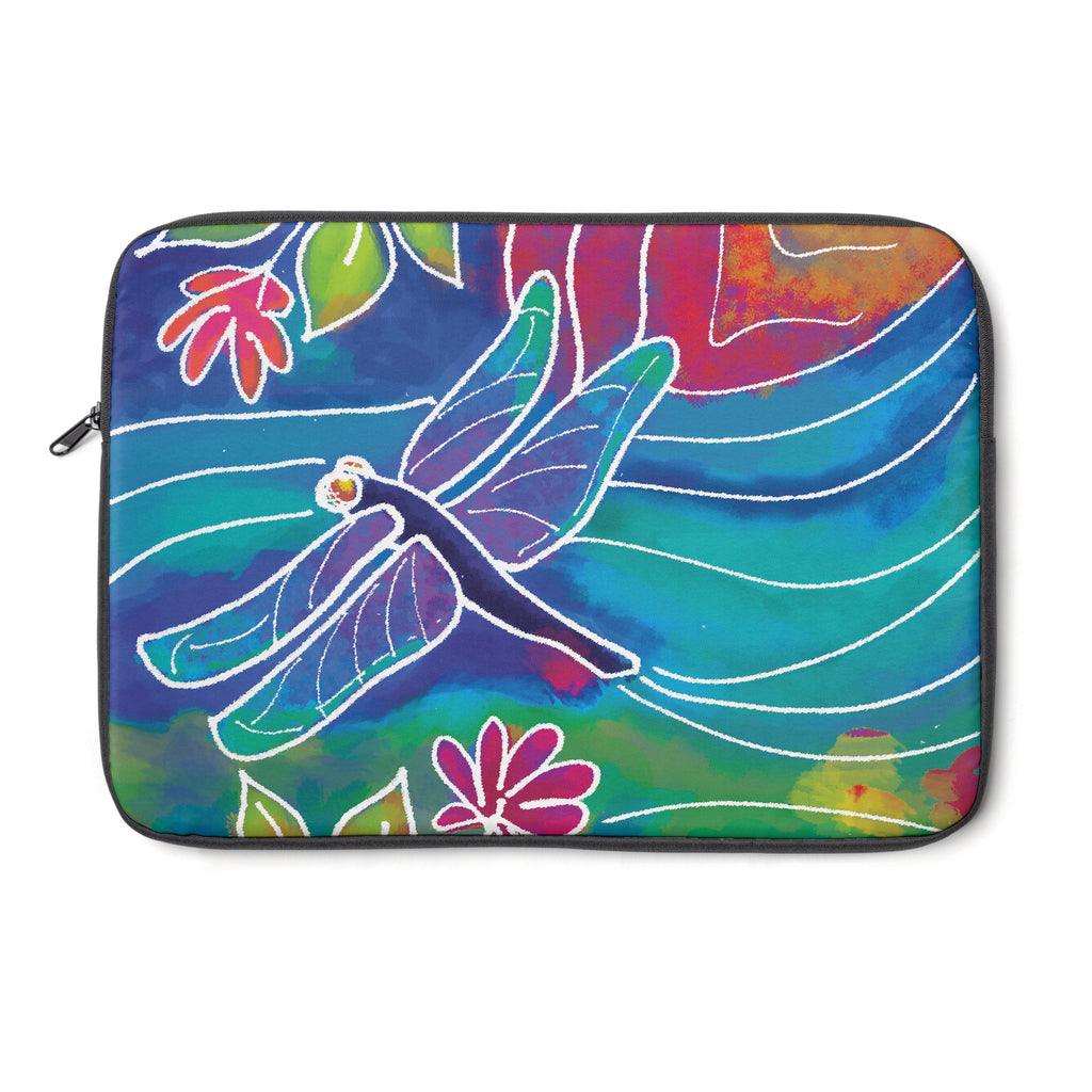 Dragonfly Tablet and Laptop Sleeve , Laptop Sleeve - The Art Journey