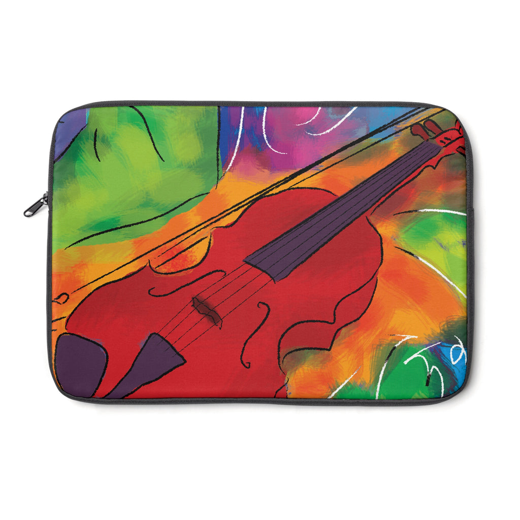 Red Violin Tablet and Laptop Sleeve , Laptop Sleeve - The Art Journey