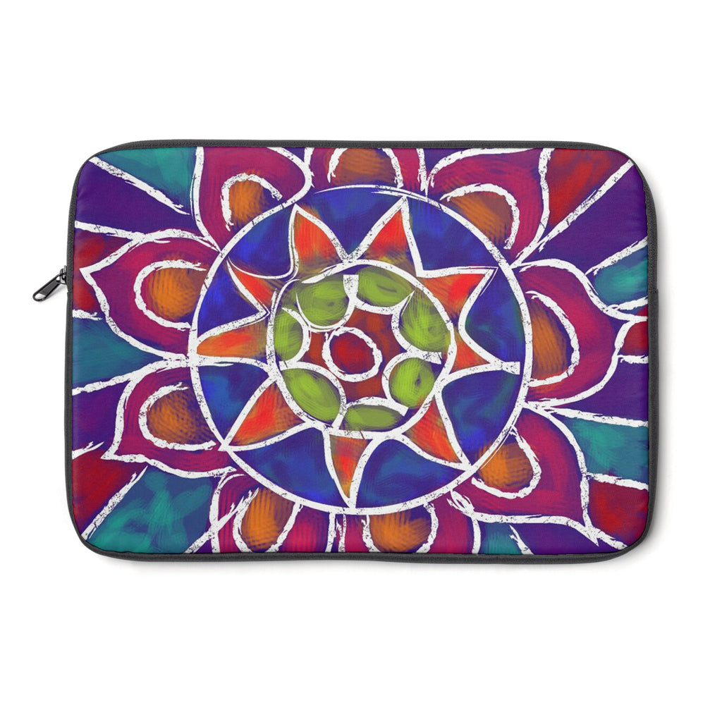 Mandala 9 Tablet and Laptop Sleeve , Laptop Sleeve - The Art Journey