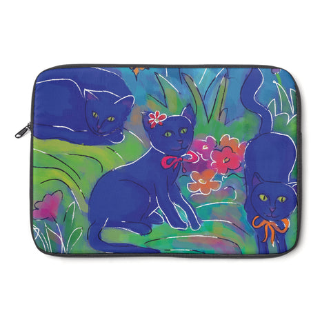Blue Cat Tablet and Laptop Sleeve , Laptop Sleeve - The Art Journey
