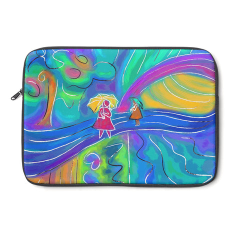 Rainy Day Tablet and Laptop Sleeve , Laptop Sleeve - The Art Journey