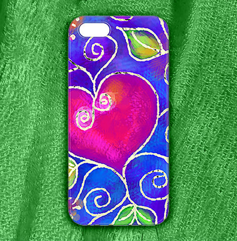 Heart of Love , Phone Cases Plastic - The Art Journey
