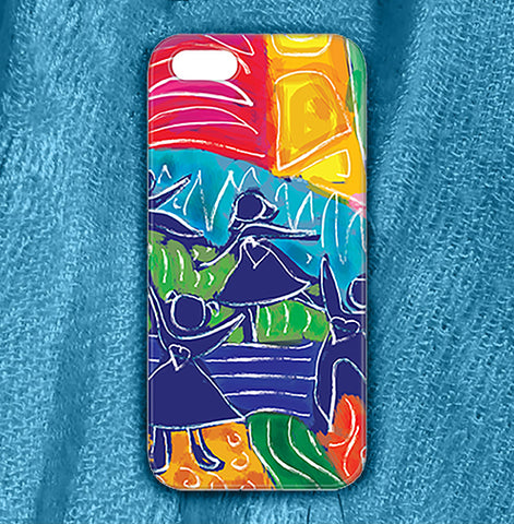 Dancing Children , Phone Cases Plastic - The Art Journey