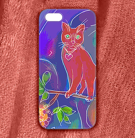 Orange Cat , Phone Cases Plastic - The Art Journey
