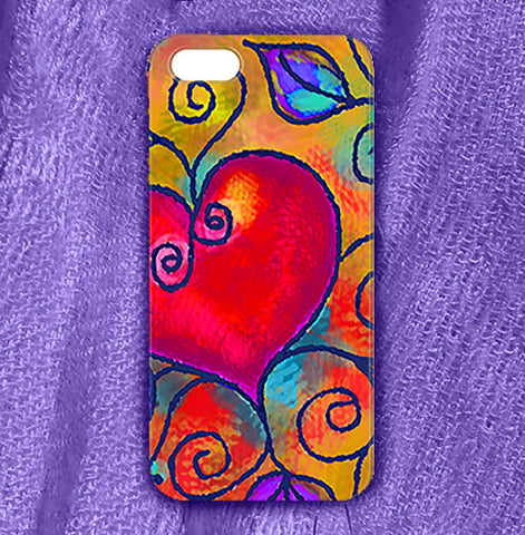 Heart of Love 2 , Phone Cases Plastic - The Art Journey