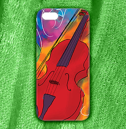 Red Violin , Phone Cases Plastic - The Art Journey