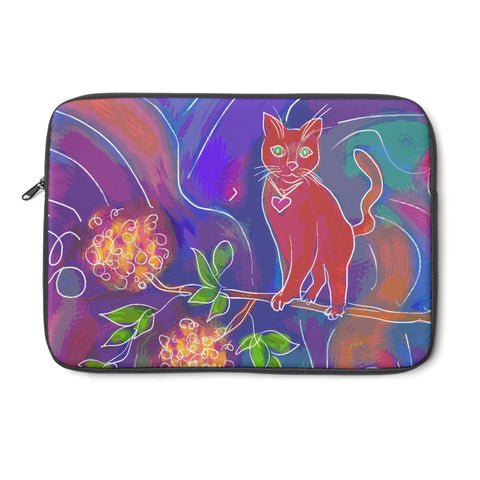 Orange Cat Tablet and Laptop Sleeve , Laptop Sleeve - The Art Journey