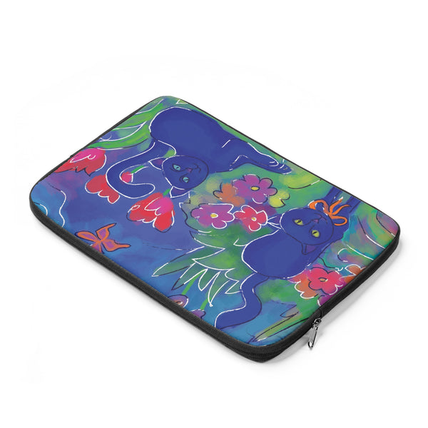 Blue Cat 2 Tablet and Laptop Sleeve , Laptop Sleeve - The Art Journey