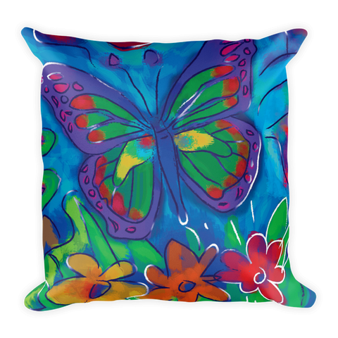 Butterfly Artistic Decorative Pillow , Pillows - The Art Journey