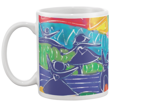 Dancing Children Coffee Mug , Mug - The Art Journey