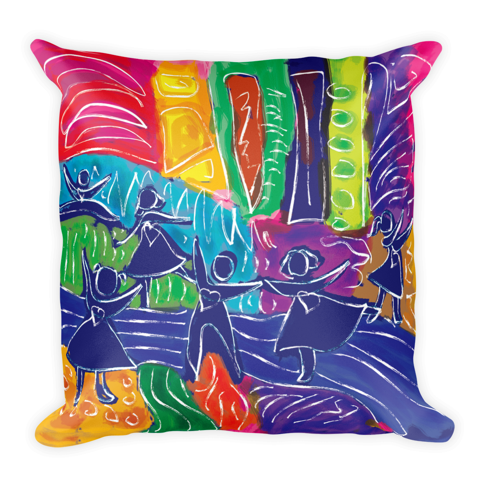 Dancing Children Artistic Decorative Pillow , Pillows - The Art Journey