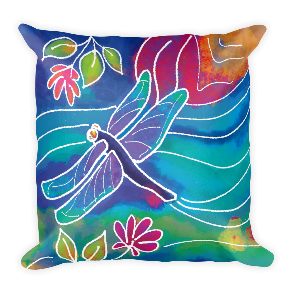 Dragonfly Artistic Decorative Pillow , Pillows - The Art Journey