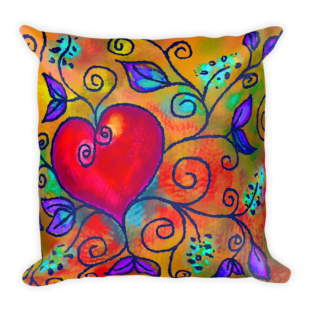 Heart of Love 3 Artistic Decorative Pillow , Pillows - The Art Journey