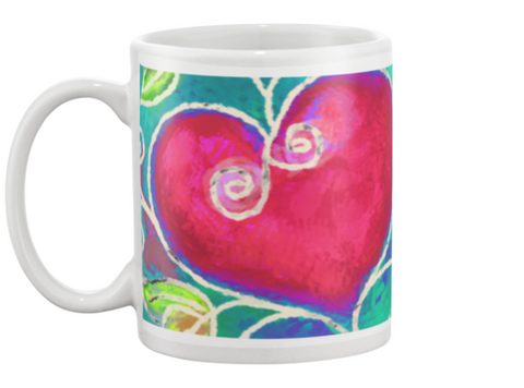 Hearts of Love Coffee Mug , Mug - The Art Journey