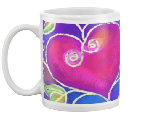 Hearts of Love Coffee Mug 2 , Mug - The Art Journey