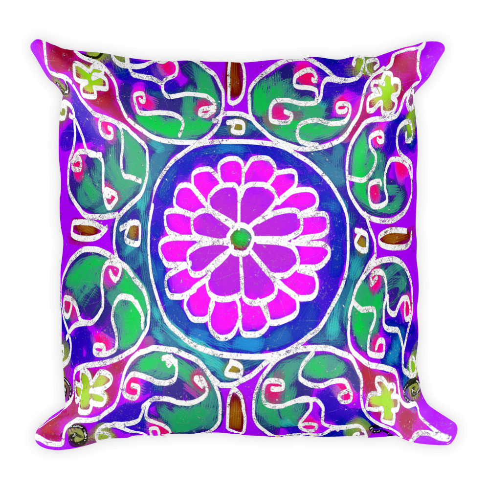 Mandala 7 Artistic Decorative Pillow , Pillows - The Art Journey