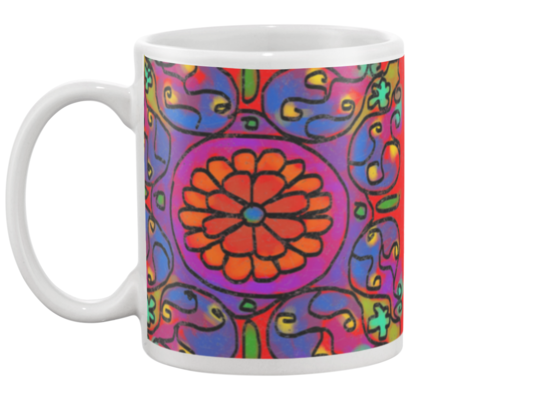 Mandala 2 Coffee Mug , Mug - The Art Journey
