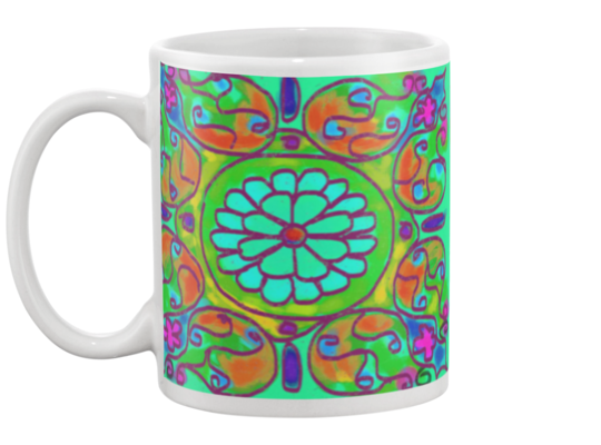 Mandala 8 Coffee Mug , Mug - The Art Journey