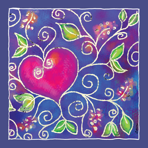 Hearts of Love 1 Silk Chiffon Large Square Scarf , Scarves - The Art Journey