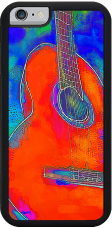 Guitar 2 , iPhone Case - The Art Journey