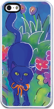 Blue Cat 2 , iPhone Case - The Art Journey