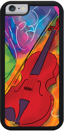 Red Violin , iPhone Case - The Art Journey