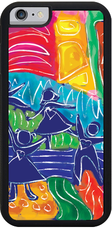 Dancing Kids , iPhone Case - The Art Journey