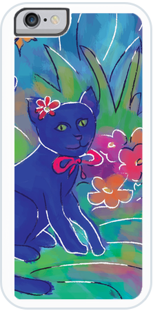 Blue Cat 1 , iPhone Case - The Art Journey