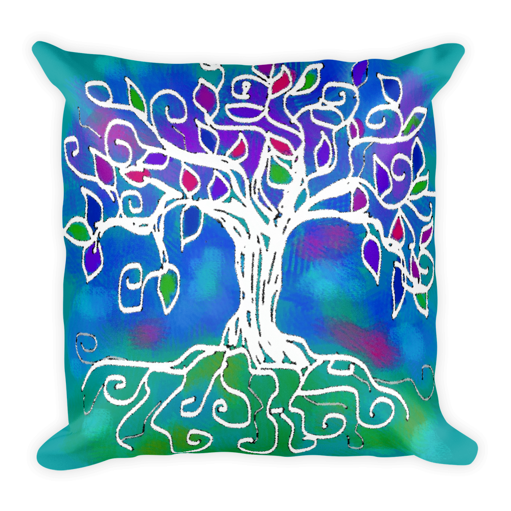Tree of Life Artistic Decorative Pillow , Pillows - The Art Journey