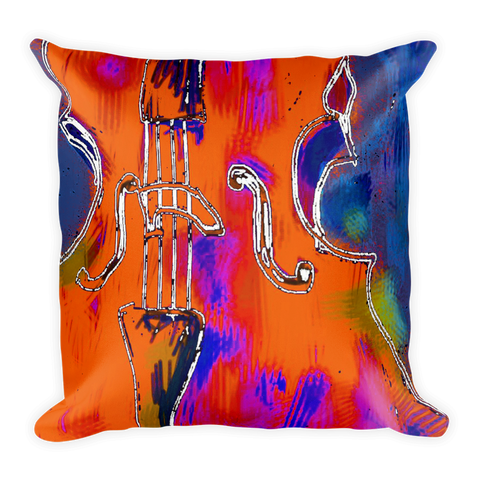 Cello Artistic Decorative Pillow , Pillows - The Art Journey