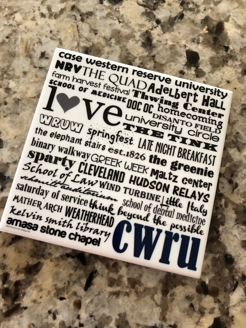 Case Western Reserve University City Tile With Stand