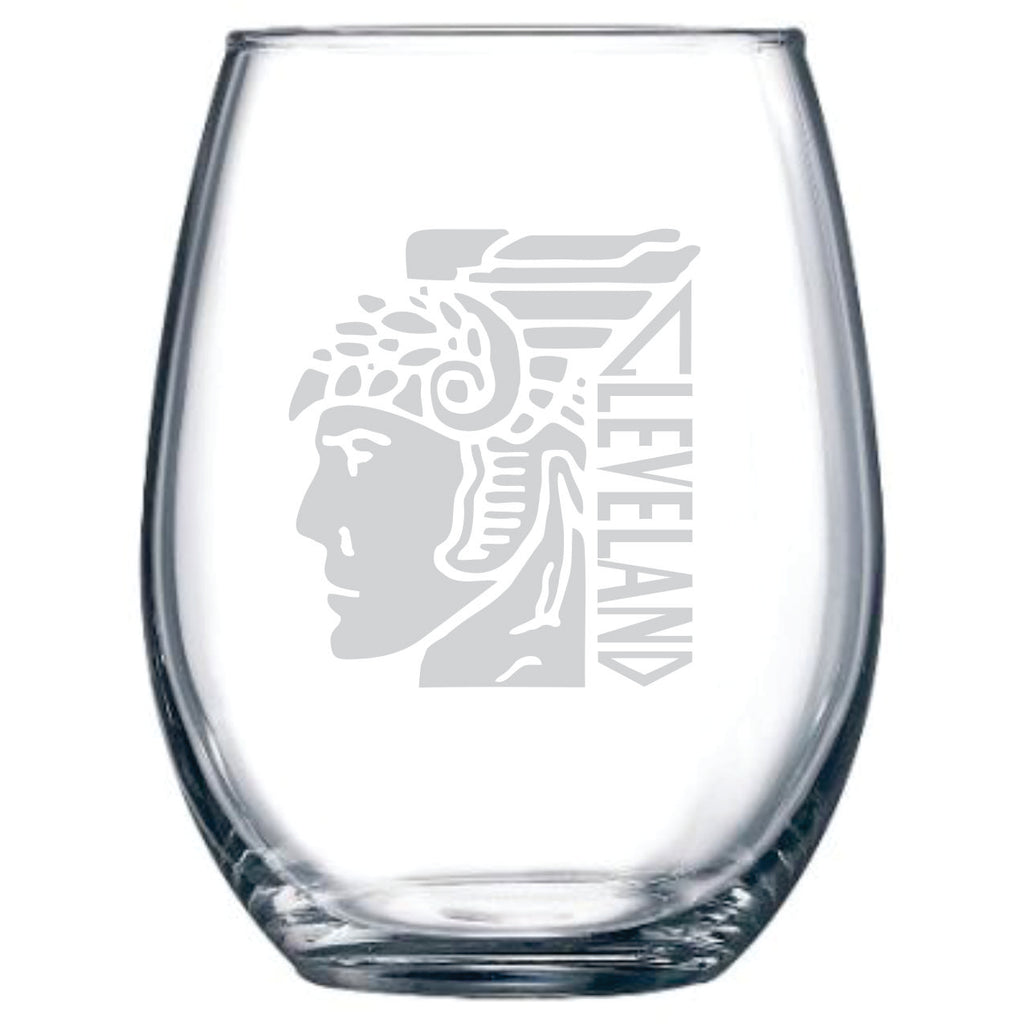 Cleveland Guardian Stemless Wine Glass