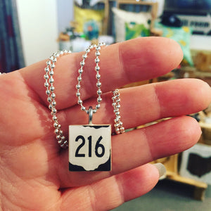 Route 216 Scrabble Pendant With Ball Chain